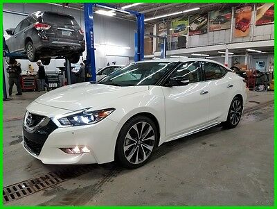 "2016 Nissan Maxima 3.5 SR Full Warranty Heated Cooled Seats Navigation Intell Cruise Blind Spot 19"" Wheels"