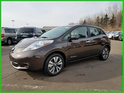 2016 Nissan Leaf SL with Premium Package Heated Leather Bose Audio Nav Around View Monitor 30kWh Battery Fully Loaded