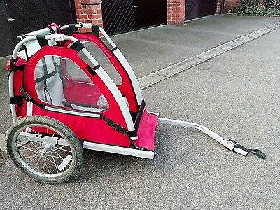 Halfords Bicycle Trailer Bike Jogger Single Buggy Seat For Baby Child Kids- Used