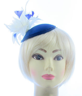 Blue and cream fascinator /hatinator for special occasions