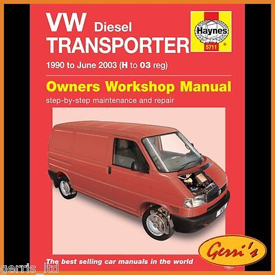 5711 Haynes VW T4 Transporter Diesel (1990 - 2003) H to 03 Workshop Manual