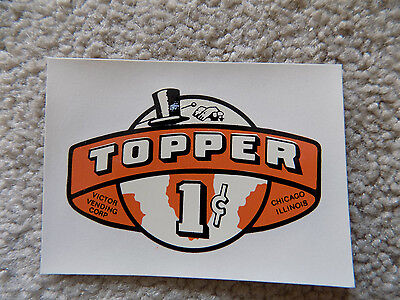 Victor Vending Topper Penny Decal