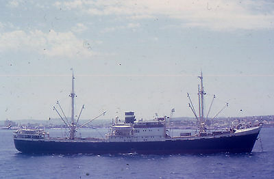 35mm SLIDE :  MARITIME : UNKNOWN FREIGHTER IN CLOSE-UP  CASCADIA ? 1965