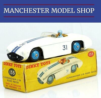 DINKY TOYS 133 CUNNINGHAM C-5R ROAD RACER box reprobox boite reproduction