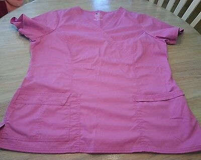 Women's size X-LARGE Cherokee Workwear premium core stretch scrub top GUC