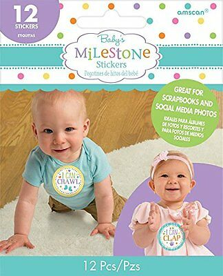 12 Baby's Milestone Special Moments Stickers Baby Shower Gift Ideal Photo Prop
