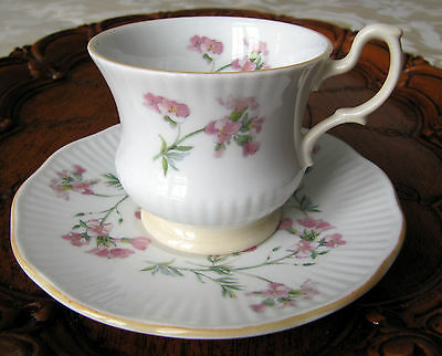 Queen's Rosina China Co. Floral Demitasse Footed Cup and Saucer