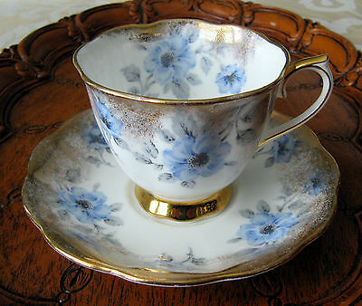 Royal Albert Blue Flowers with Gold Cup and Saucer