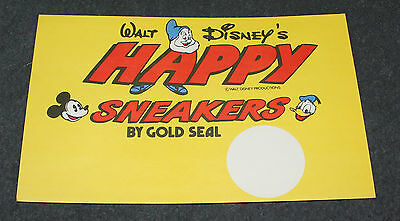 Nice Vintage Walt Disney's Happy Sneakers Display Card Header Card