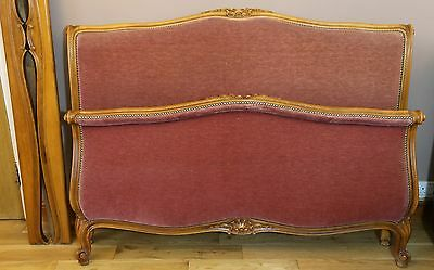 French Roll Top Capitonne Double Bed in Louis XVI Style