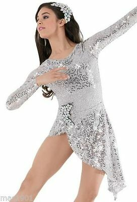 New Figure Ice Skating Baton Twirling Dress Costume Adult