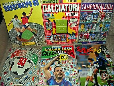 Lotto/Stock - 6 Album Figurine Calciatori - Misti - Guerin - Panini