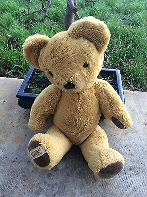 Vintage MERRYTHOUGHT Jointed Teddy Bear Toy 15 inches VGC Childrens
