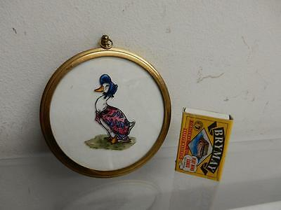 old MINIATURE picture JEMIMA PUDDLE DUCK
