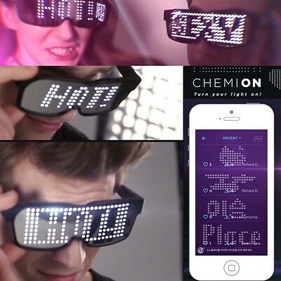 CHEMION 2 Smart Bluetooth LED Glasses - Party Club Display Messages, Animation!