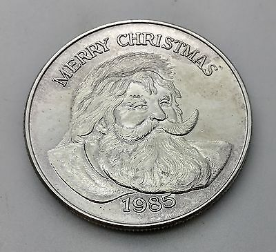 1985 1 Troy Ounce Christmas Santa Clause 999 Pure Silver Coin USA
