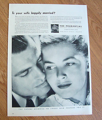 1946 Prudential Insurance Ad Is your wife Happily Married?