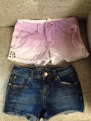 Two Pairs Of Justice Jean Shorts Girls Size 8R