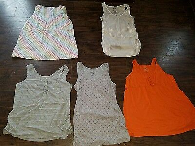 lot of 5 large L maternity tanks Old Navy Gap motherhood spring summer