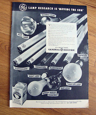 1944 GE General Electric Mazda Lamps Bulbs Ad
