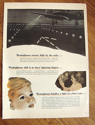1943 Westinghouse Ad Creates Light by the Mile