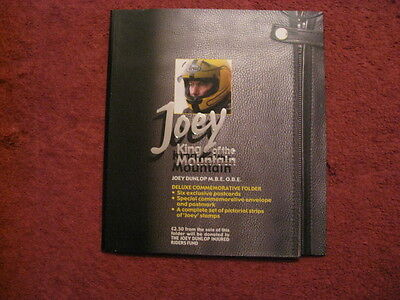Joey Dunlop King Of The Mountain Sealed Commemorative Folder Stamps Postcards