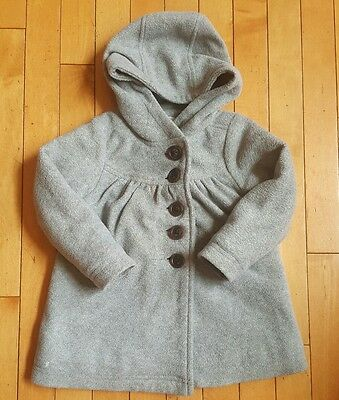 Toddler Girls 2t Hooded Old Navy Pea Coat Gray