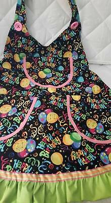 Happy Birthday Balloon Print Aprons for professional clowning