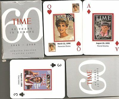 Limited Edition of Time Magazine Front Covers Playing Cards + 4 Unique Jokers