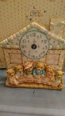 extremely rare limited edition cherished teddies family clock