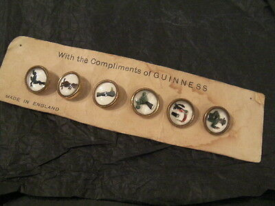 Vintage Guinness Waistcoat Buttons, Gilroy, White/gold, Set Of 6