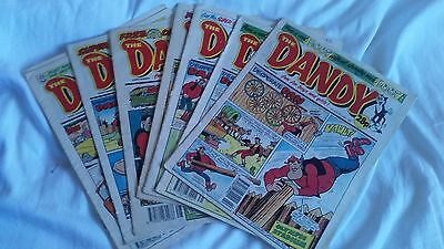 8 Vintage Editions Of The Dandy Comic From 1992