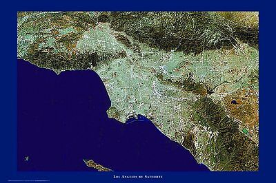 LOS ANGELES - SATELLITE MAP POSTER 24x36 - LA CALIFORNIA 52040