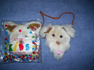 Puppy dog plush purse Fuzzy face & ears Avon Products