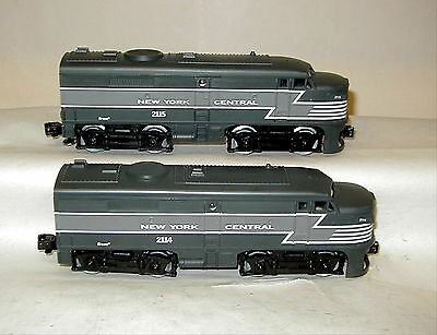K-Line New York Central A-A Alcos # 2114 &  2115  Nyc W/ Boxes  ** Ln **