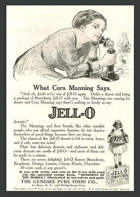 1912 Candlestick Phone In Jell-O/jello Ad - Rose O'neill Art