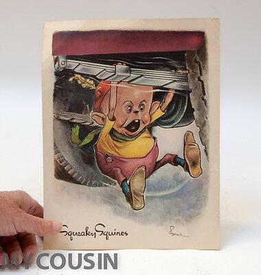 """1943 Esso Poster, GREMLIN """"Squeaky Squires"""", Ghosts in the Machine, Rat Rod, NR!"""