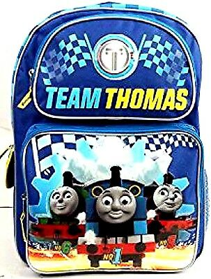"""Thomas the Train TEAM THOMAS 16"""" Backpack with two main compartments-Brand New!"""
