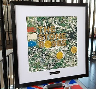 The Stone Roses Framed Original Album Cover-Ltd Edition-Certificate Oasis