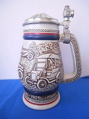 Avon Collectors Antique Cars Lidded Stein #284623 Brazil