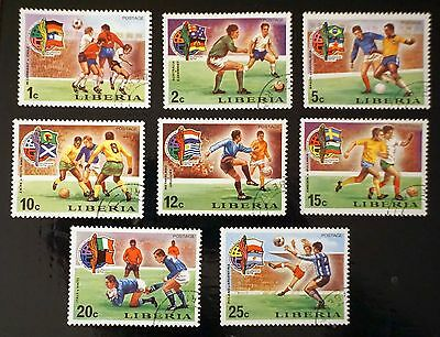 LIBERIA complete set of 8    Munich WORLD CUP of SOCCER  FOOTBALL 1974
