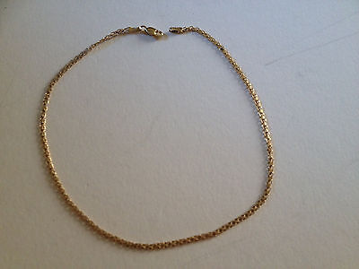 "Beautiful Ladies 14 Kt Yellow Gold 11 3/4""  Link Chain Anklet Lobster Claw Catch"