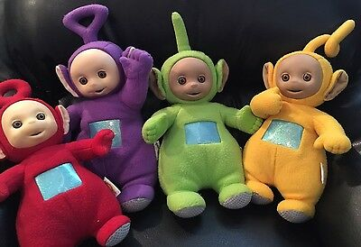 Playskool Teletubbies Talking Plush Dolls Tinky Winky, Dipsy, LaaLaa, Po 1998