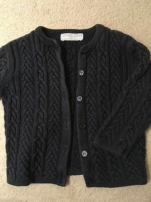 Baby Boys Or Girls Little White Company Cardigan 18-24 Months Navy