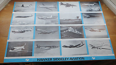 Hawker Siddeley - Large Fold Out Poster / Brochure 1967 - Vulcan, Trident Etc