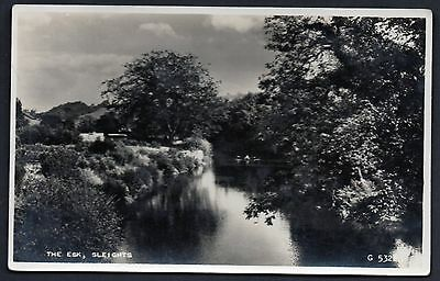 The Esk, Sleights, Yorkshire. Real Photo. Unused.