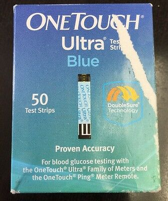 ***L@@K*** One Touch Ultra Blue Diabetic Test Strips 50 count