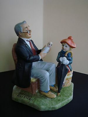 """Norman Rockwell """" Doctor  And The Doll""""  Figurine"""