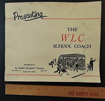 RARE - Original Catalog - 1951 School Bus - WLC Coach - Carpenter Mitchell IN