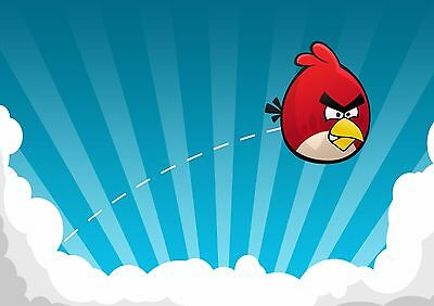 Angry Birds - A4 Glossy Poster -TV Film Movie Free Shipping #735